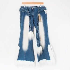 Crest | Vintage 00's Super RARE NWT Fur Y2K Jeans